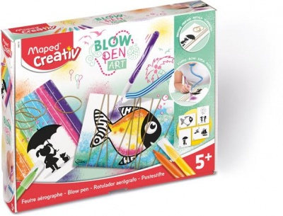 "Fújós filctoll készlet, MAPED CREATIV, ""Blow pen Art"", pop"